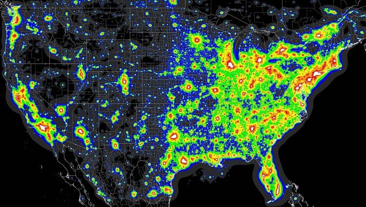 What Are Light Pollution Maps?