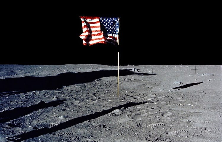 CAN A TELESCOPE SEE THE FLAG ON THE MOON?