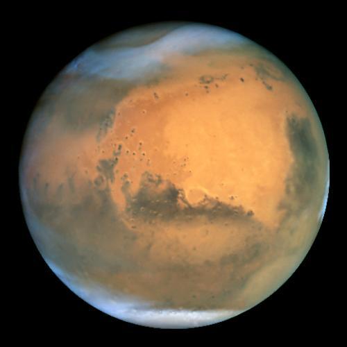 Mars thru Hubble telescop
