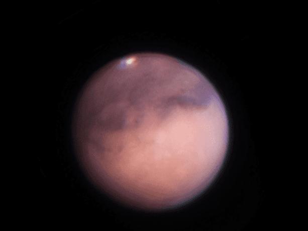 Mars thru telescope