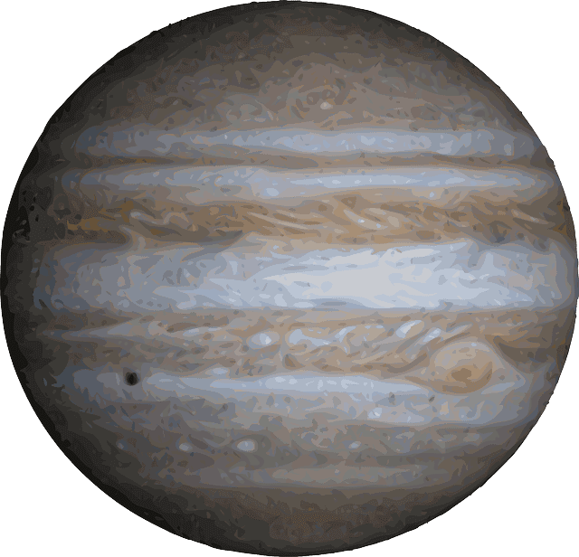 the largest terrestrial planet and jovian planet are